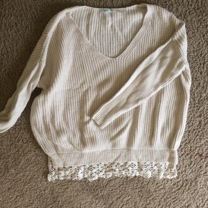 UO lace sweater